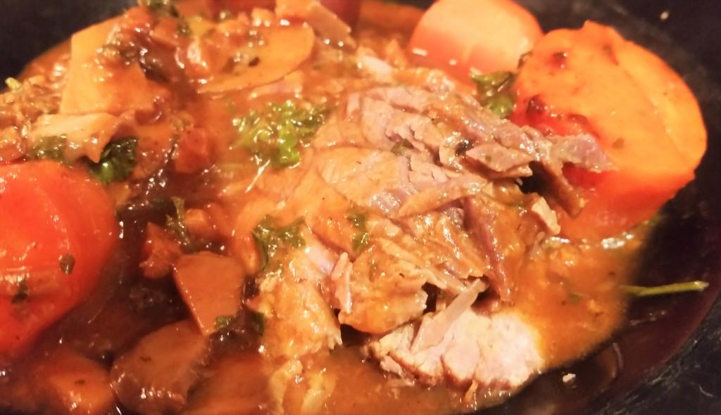 Rump Roast with Mushroom Sauce
